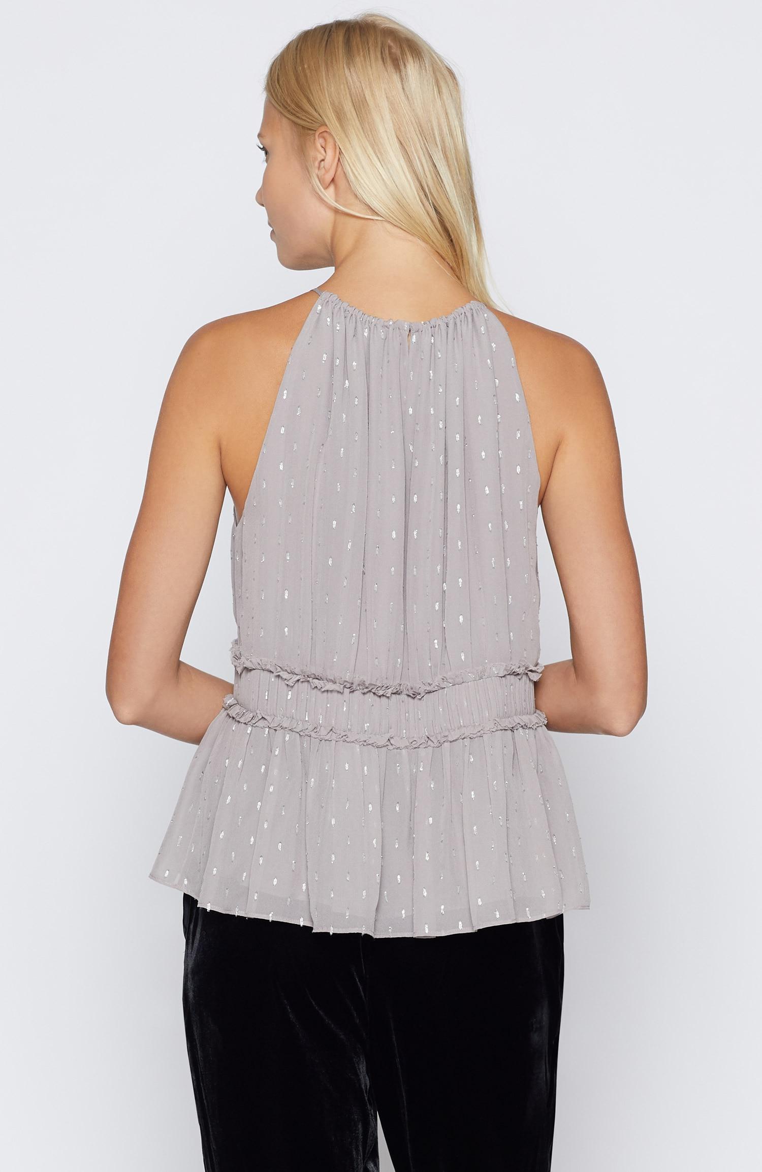 513055ae65d94 Lyst - Joie Shawnette Silk Top in Metallic
