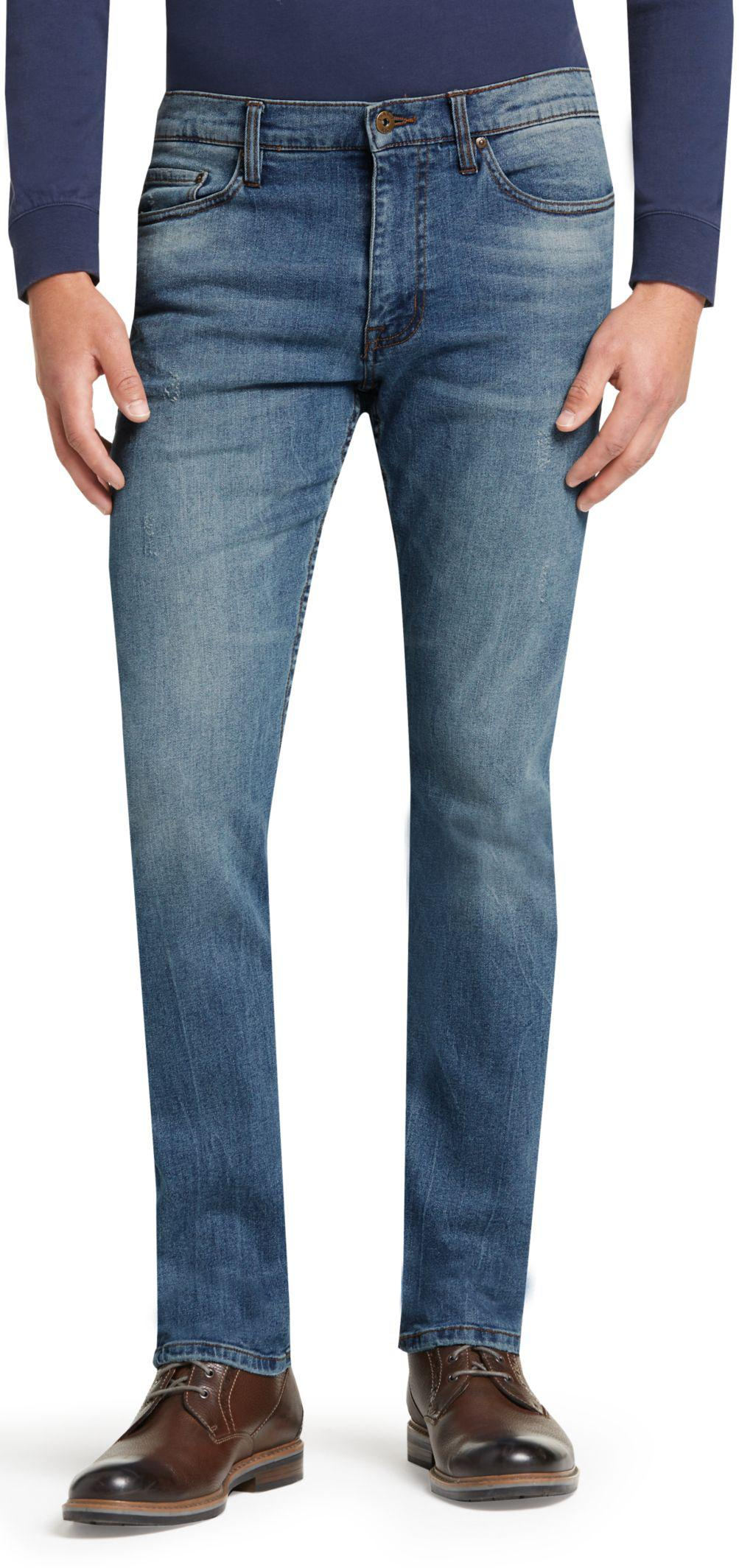 Lyst jos a bank 1905 collection tailored fit jeans in for Jos a bank tailored fit vs slim fit shirts