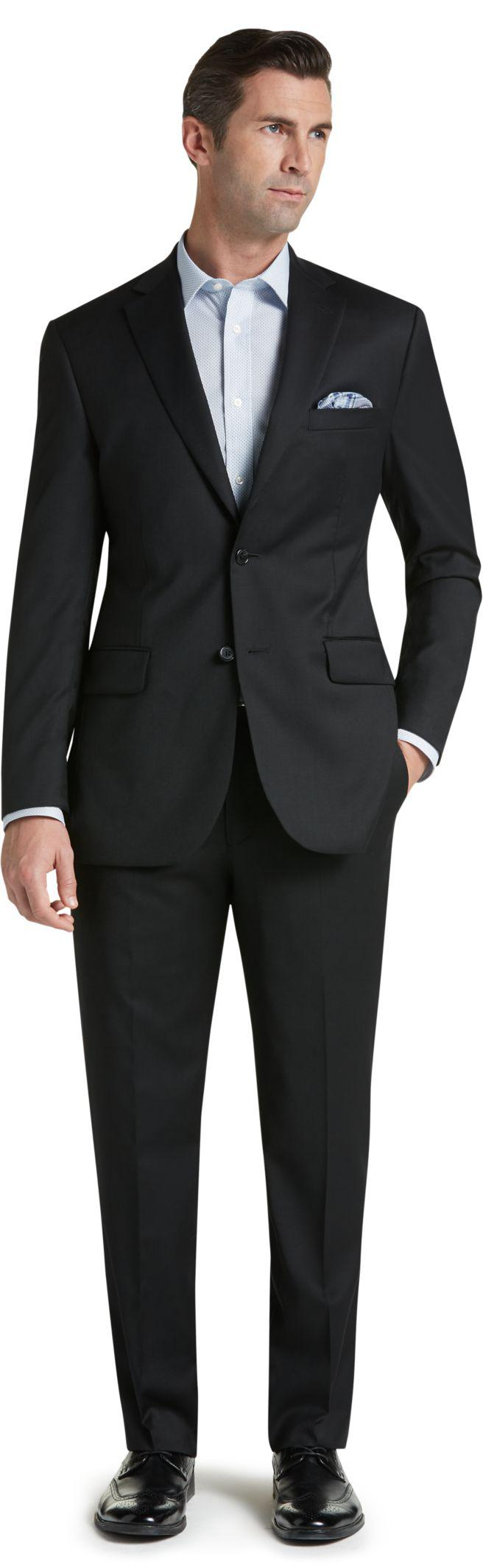 169b8985535 Lyst - Jos. A. Bank Signature Collection Tailored Fit Suit in Black ...