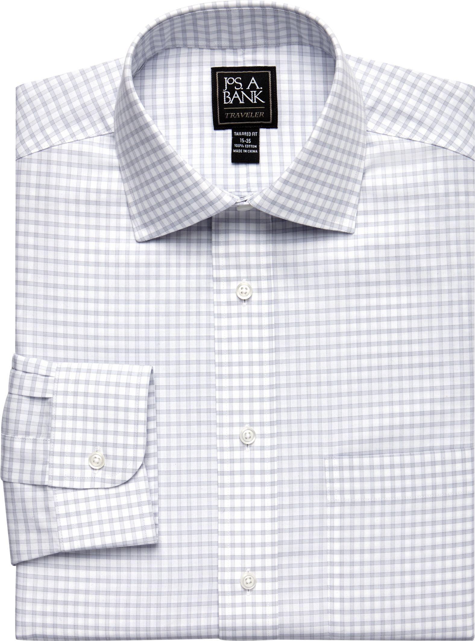 Jos a bank traveller collection tailored fit spread for Jos a bank slim fit vs tailored fit shirts