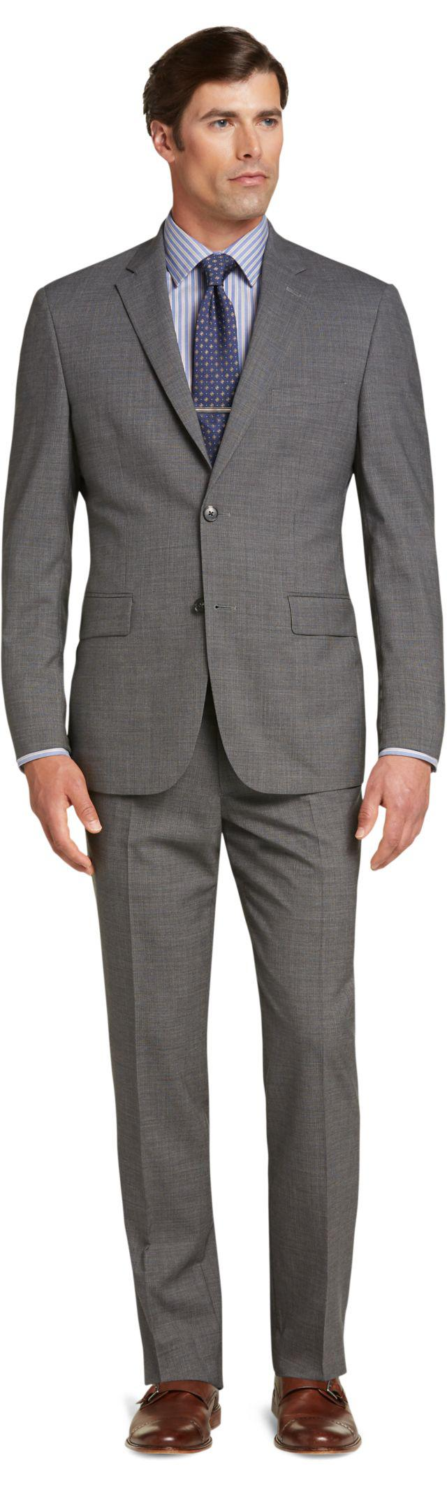 Lyst jos a bank traveler collection tailored fit micro for Jos a bank tailored fit vs slim fit shirts