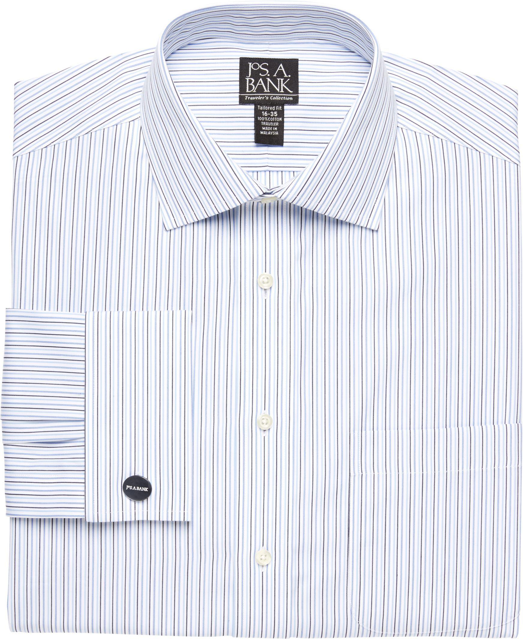 Jos a bank traveller collection traditional fit spread for Spread collar dress shirt without tie