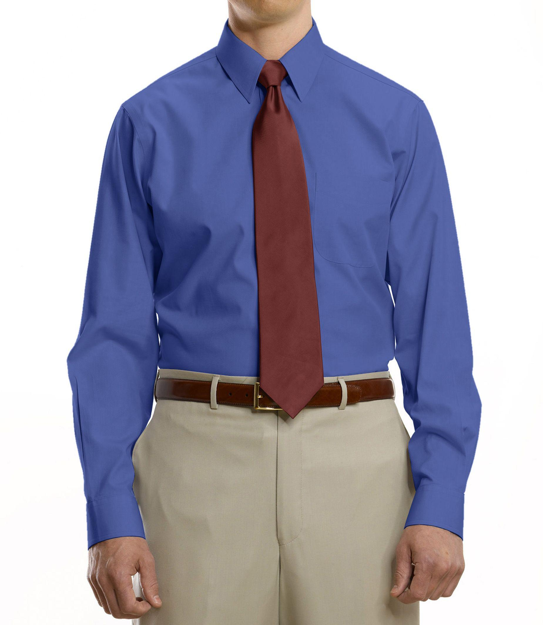 Jos a bank traveller collection tailored fit point for Mens tall dress shirts