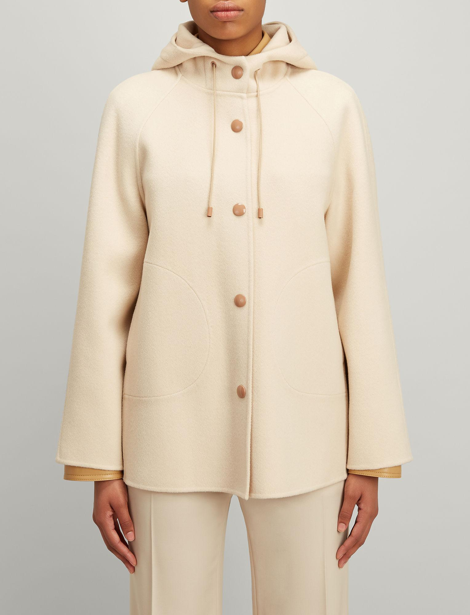 7d764237c61 JOSEPH Double Wool Rowen Short Coat in Natural - Lyst