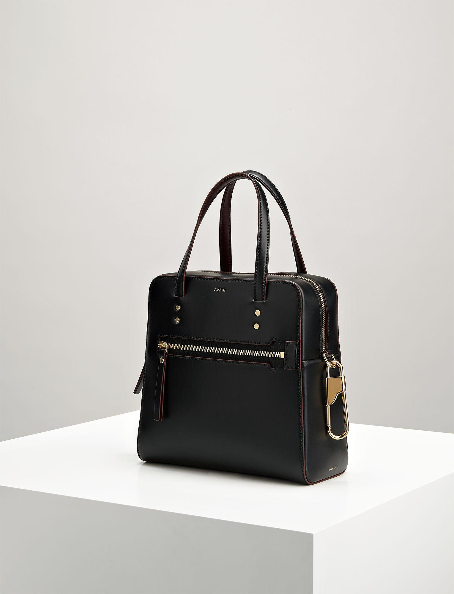 Lyst - Joseph Leather Ryder 25 Bag in Black 9a2a64249b5d4
