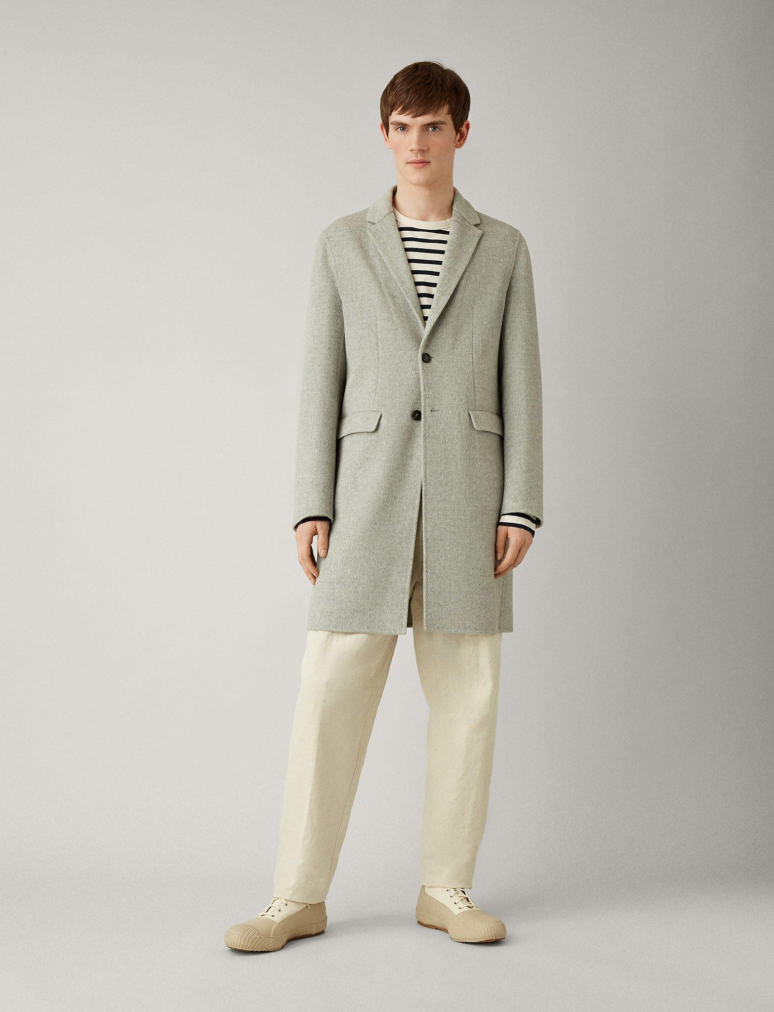 741016ee93b7 Lyst - JOSEPH Armand Feather Double Cashmere Coat in Gray for Men
