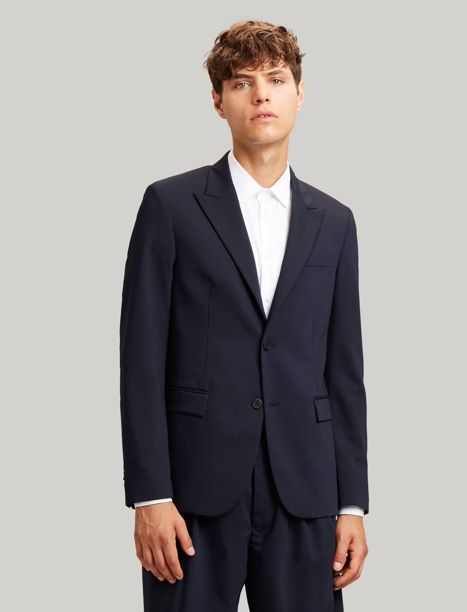 65b15196c8 JOSEPH Cannes Fine Comfort Wool Blazer in Blue for Men - Lyst