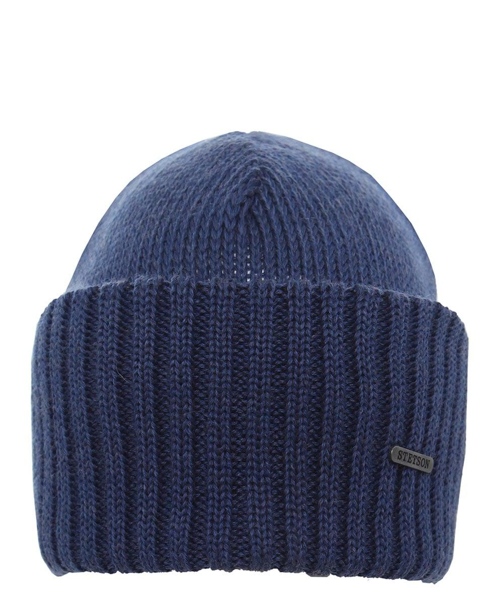 Stetson - Blue Merino Wool Beanie Hat for Men - Lyst. View fullscreen 1522258ddc0b