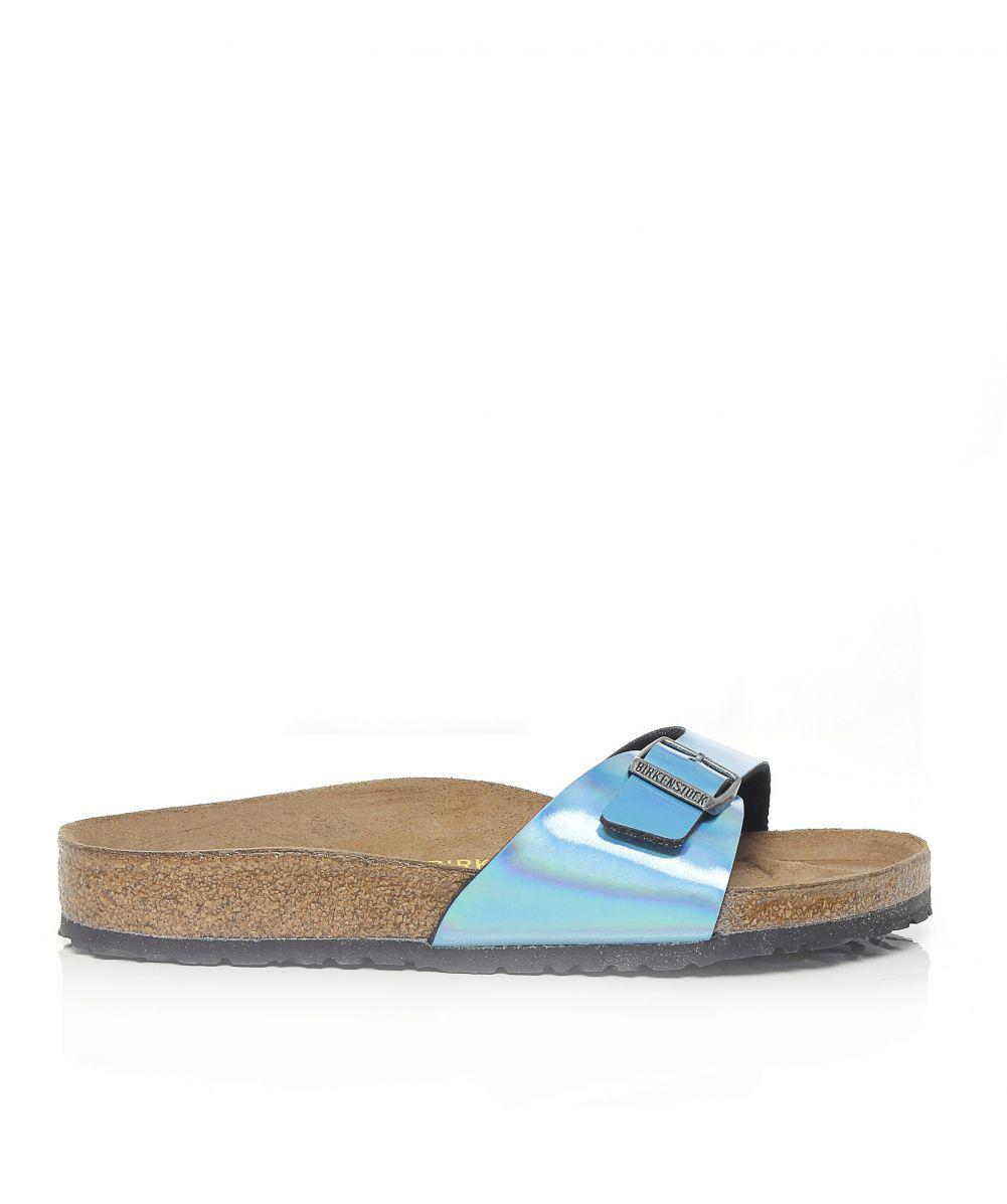 10e63dc30d9 Birkenstock Madrid Mirror Sandals in Blue - Lyst