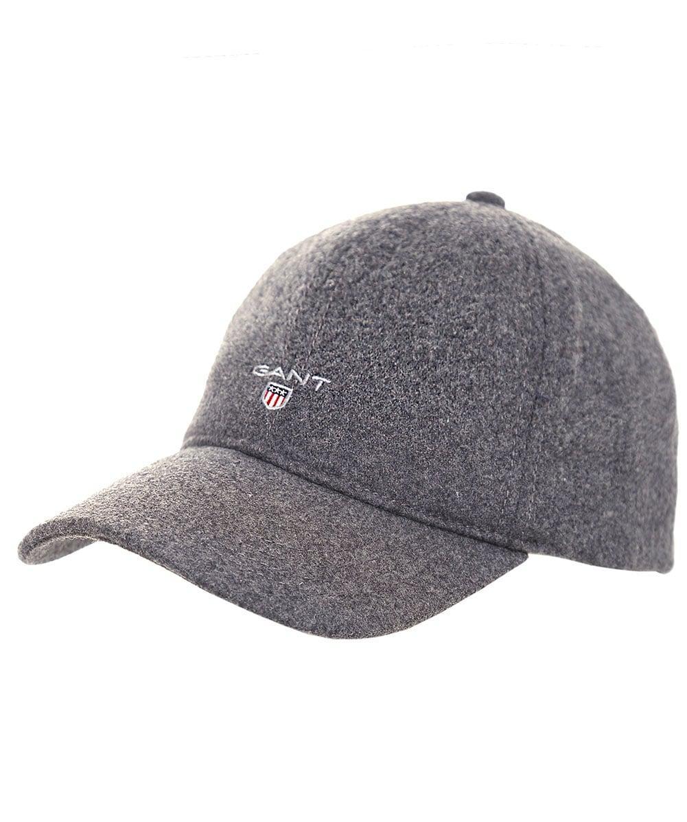0728b6bb979 Lyst - GANT Wool Blend Melton Cap in Gray for Men