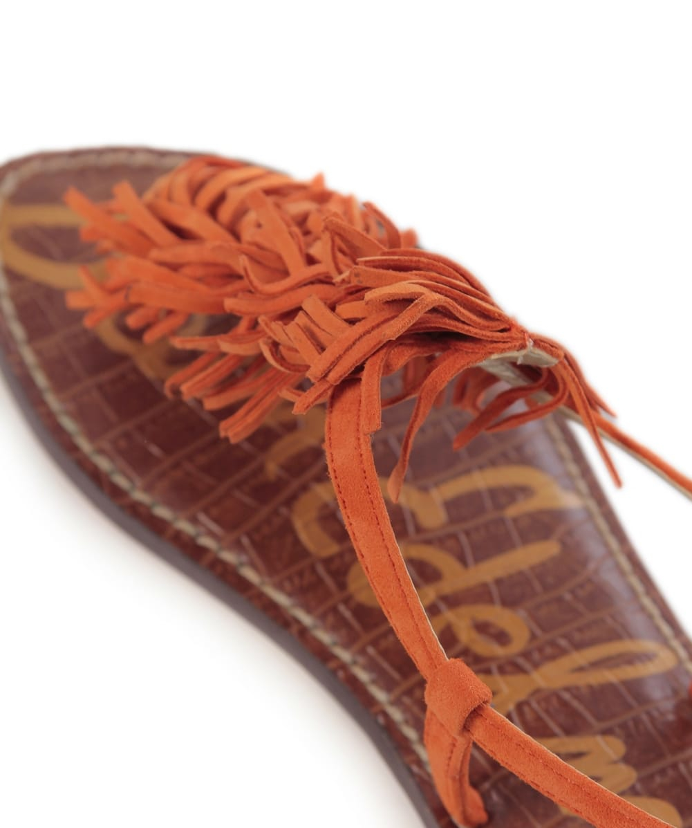 7707a3182c08 Lyst - Sam Edelman Gela Fringe Sandals in Orange