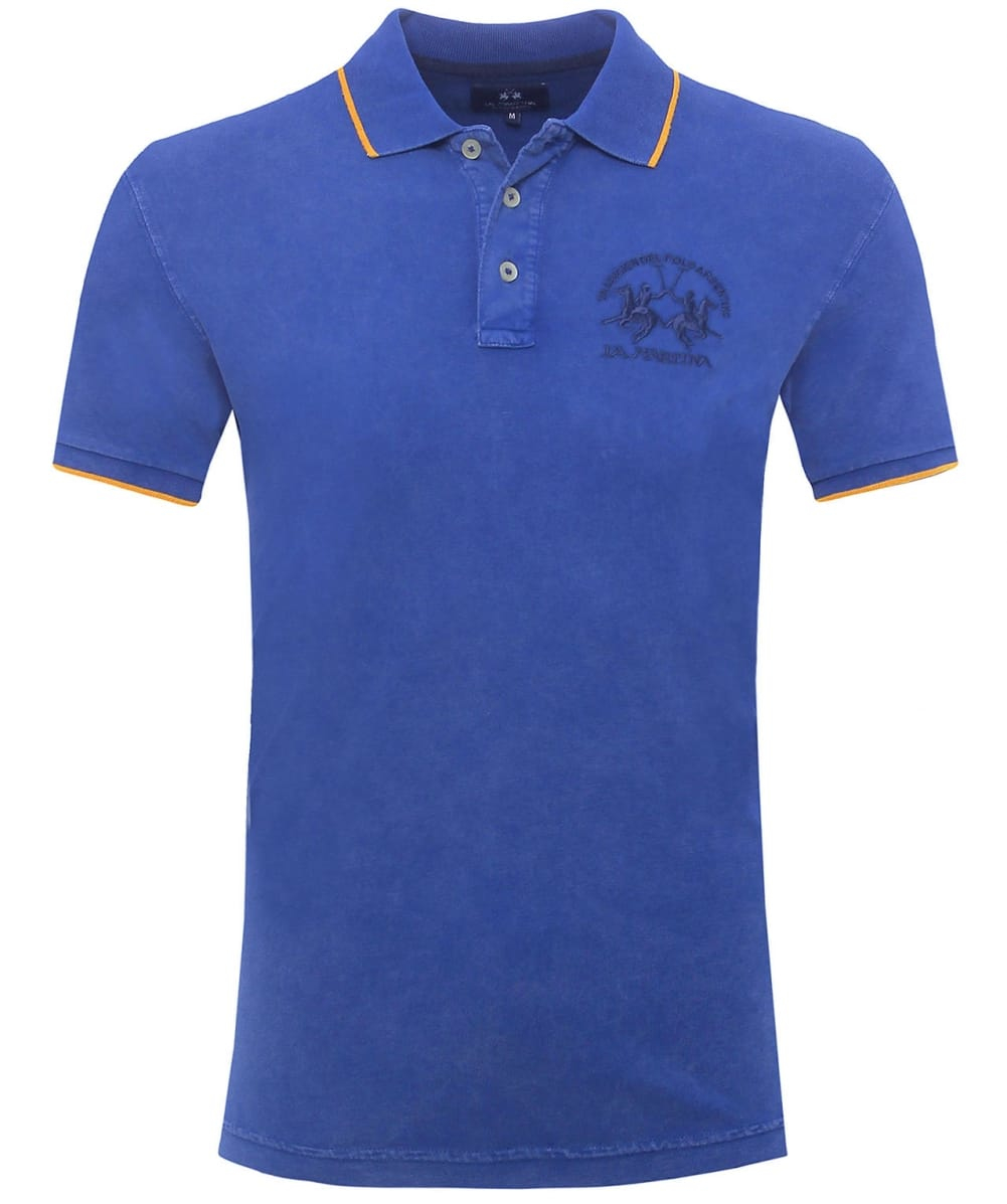 la martina vega logo polo shirt in blue for men save 40. Black Bedroom Furniture Sets. Home Design Ideas