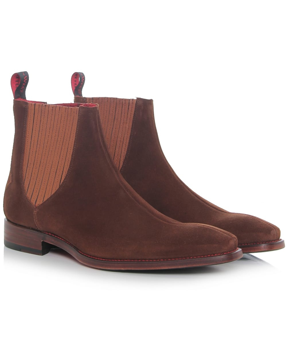 jeffery west suede bauhaus hunger chelsea boots in blue