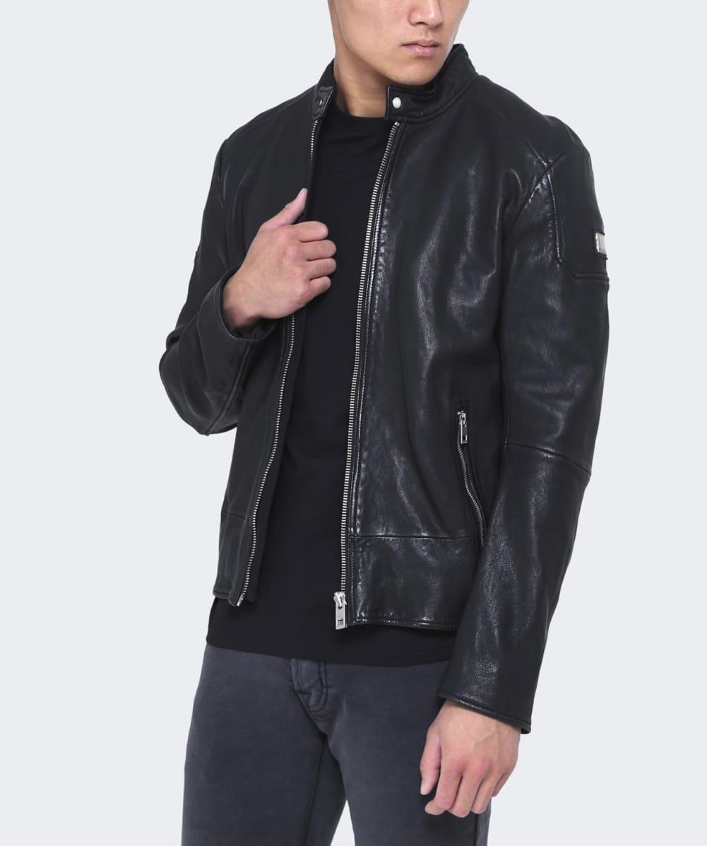 BOSS Orange Leather Jofynn Jacket In Black For Men
