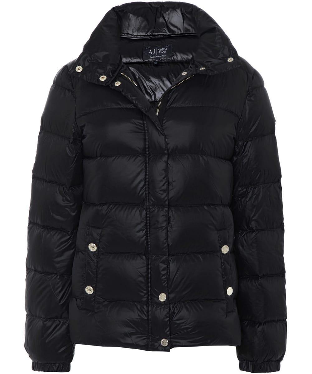 Armani Jeans Lightweight Down Jacket In Black Lyst