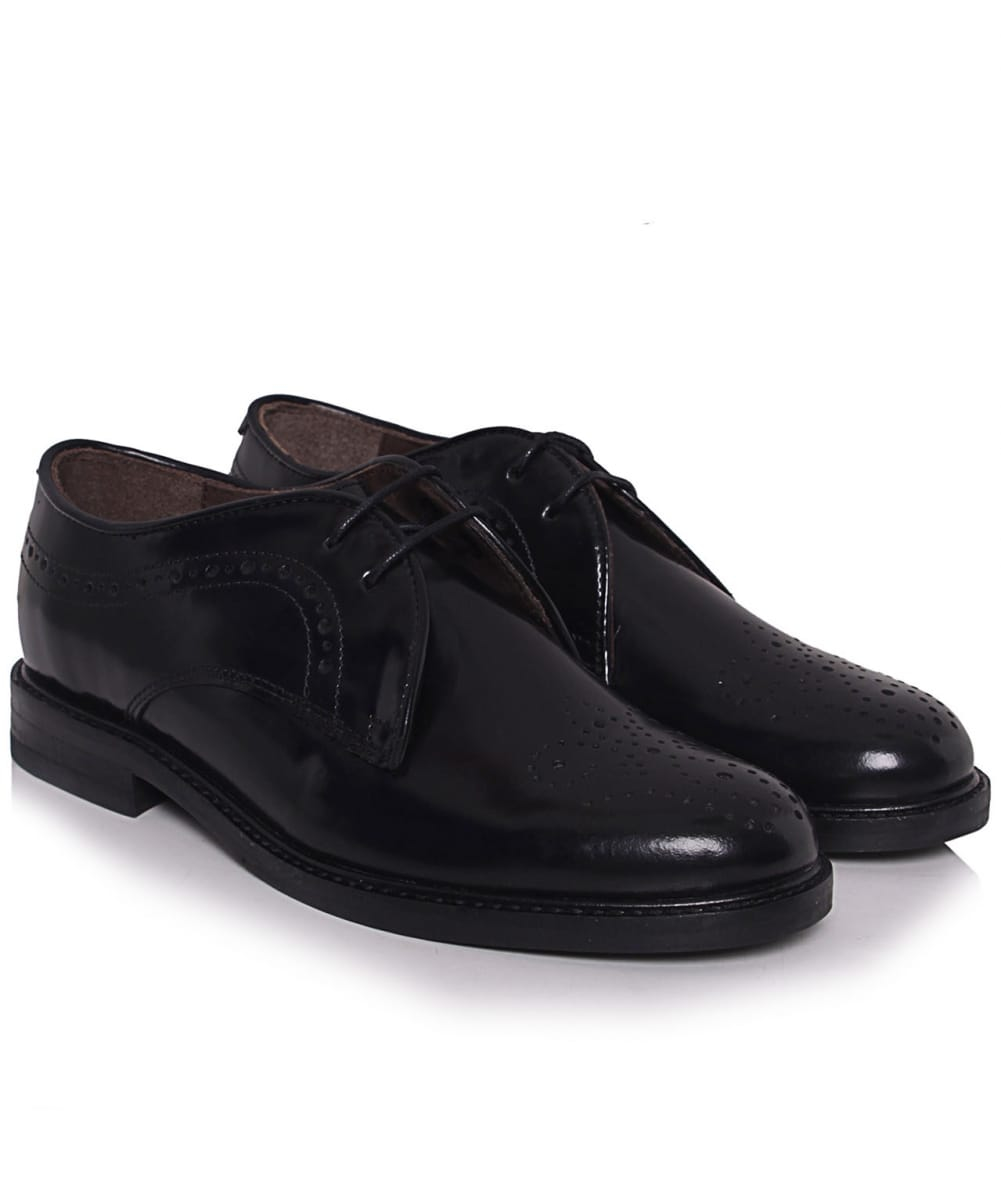h by hudson magee lace up brogues in black for men lyst. Black Bedroom Furniture Sets. Home Design Ideas