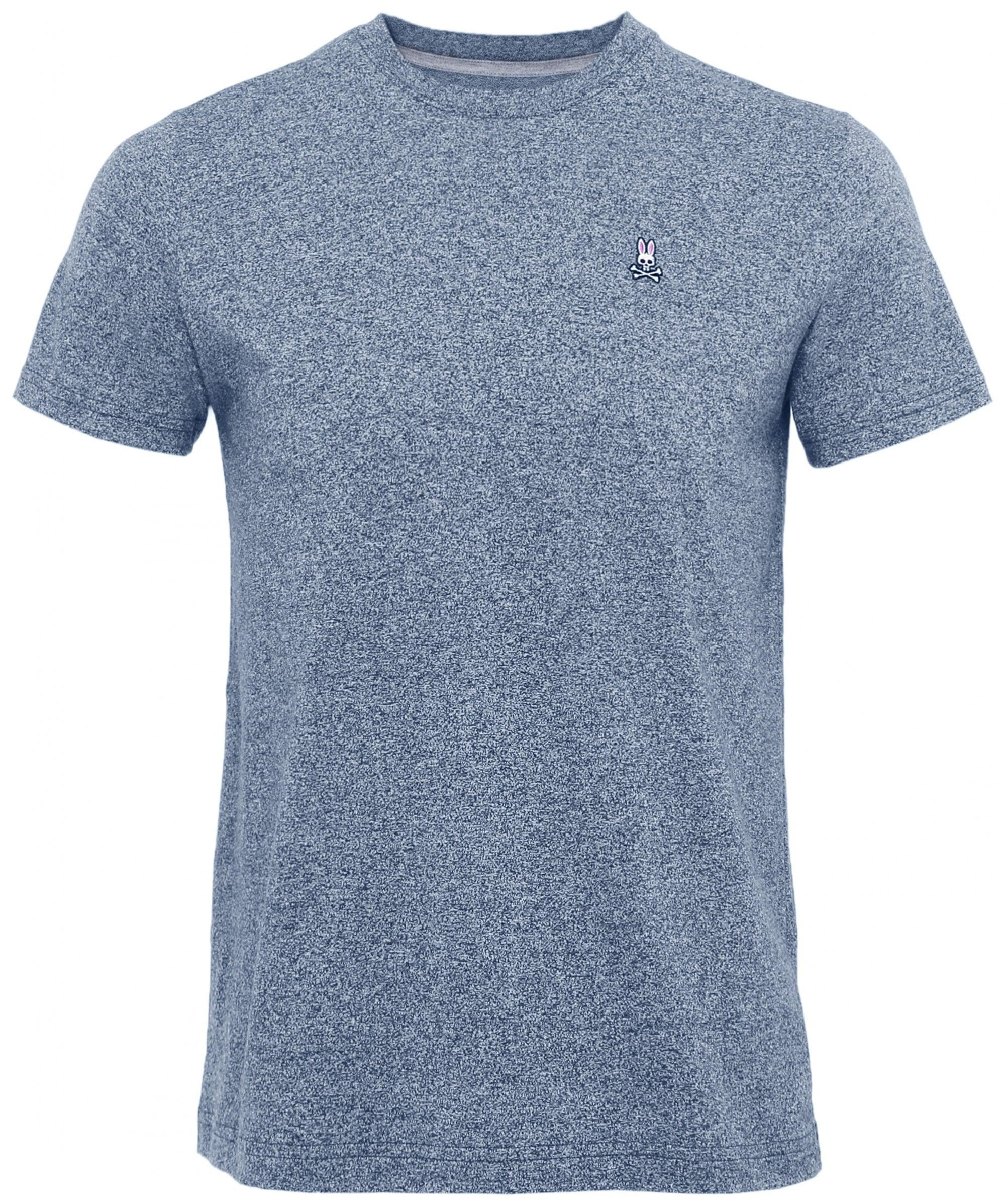 Psycho bunny pima cotton crew neck t shirt in blue for men for Pima cotton crew neck t shirt