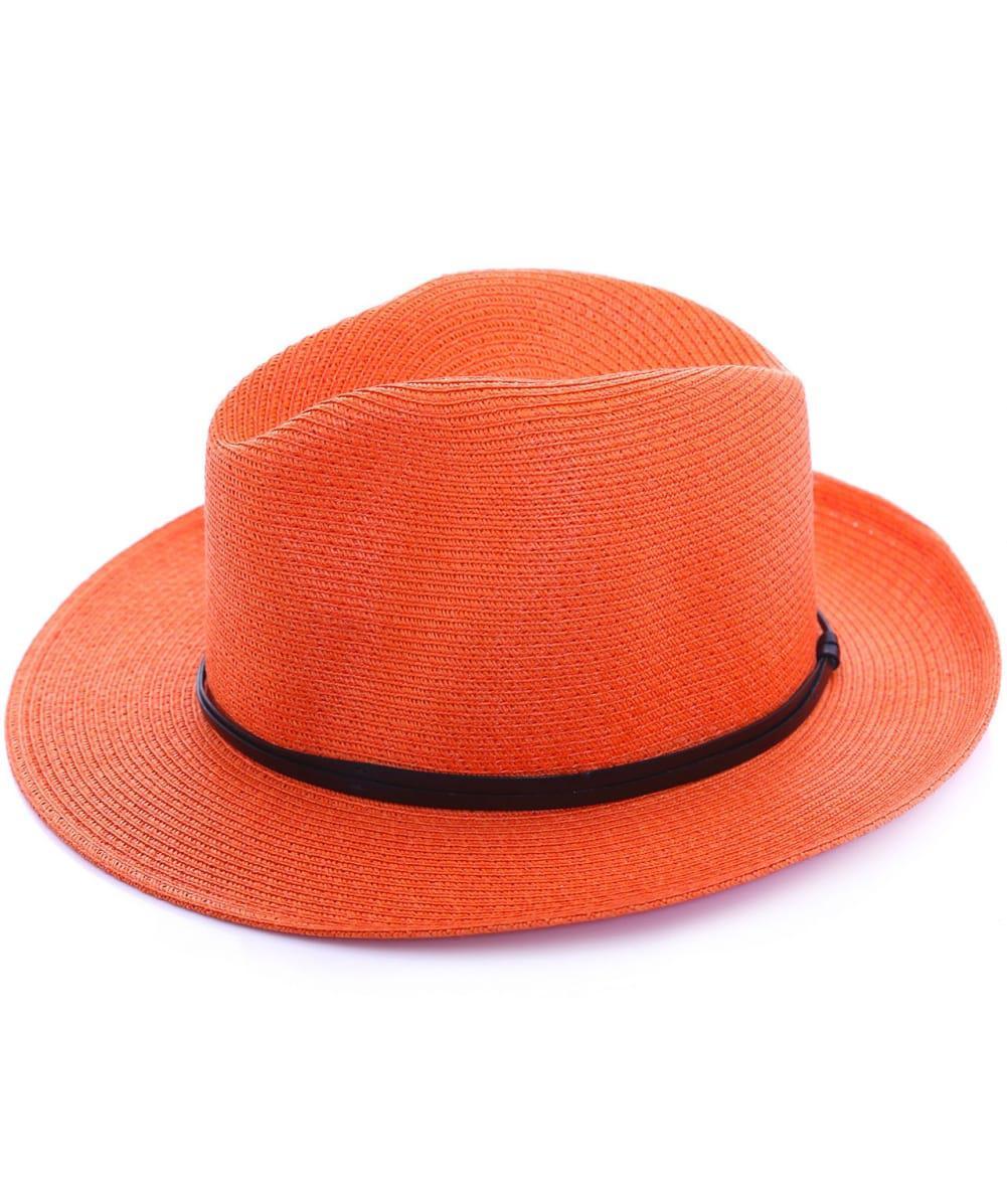 9cb6611ff Travaux En Cours Straw Fedora Hat in Orange - Lyst