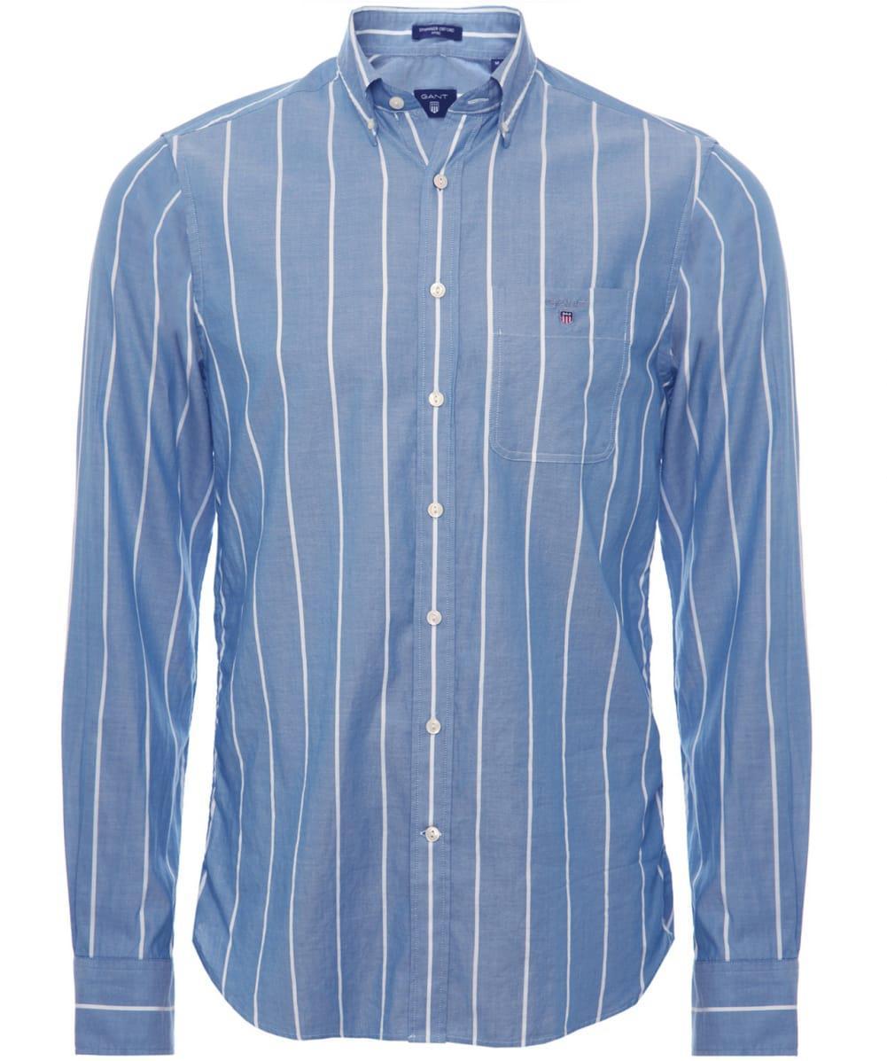 ceecd195c9a GANT Striped Spinnaker Shirt in White for Men - Lyst