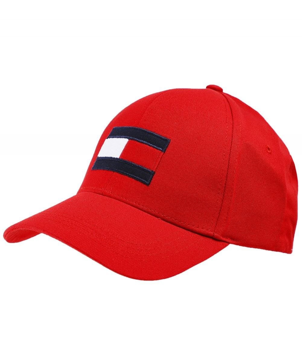 129507ac Lyst - Tommy Hilfiger Flag Embroidery Baseball Cap in Red