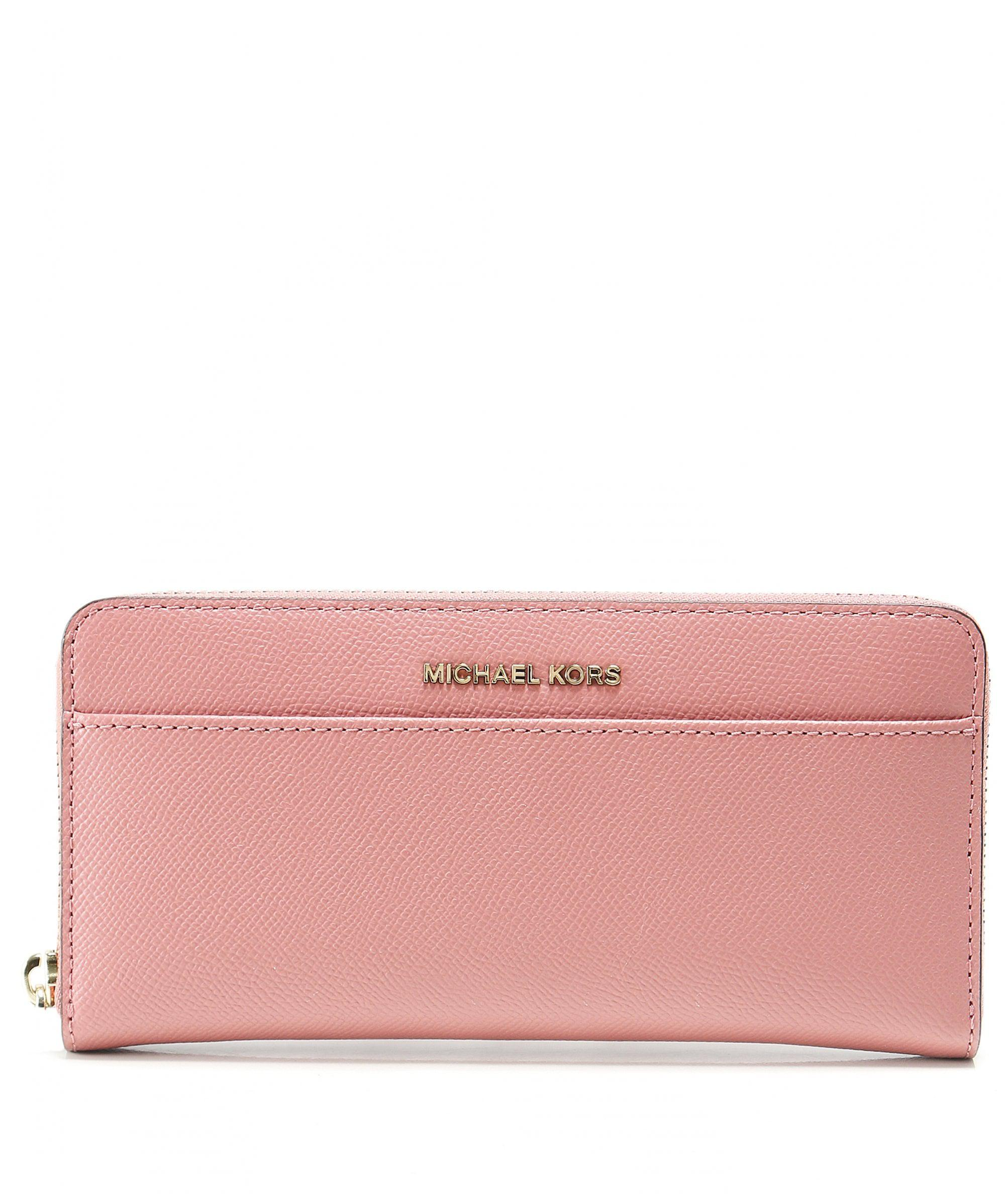 646dee5bcab815 MICHAEL Michael Kors Saffiano Leather Continental Purse in Pink - Lyst