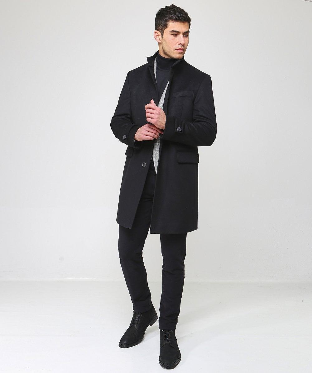 0d6e9755e3dd BOSS Cashmere Blend Sintrax3 Coat in Black for Men - Save 38% - Lyst