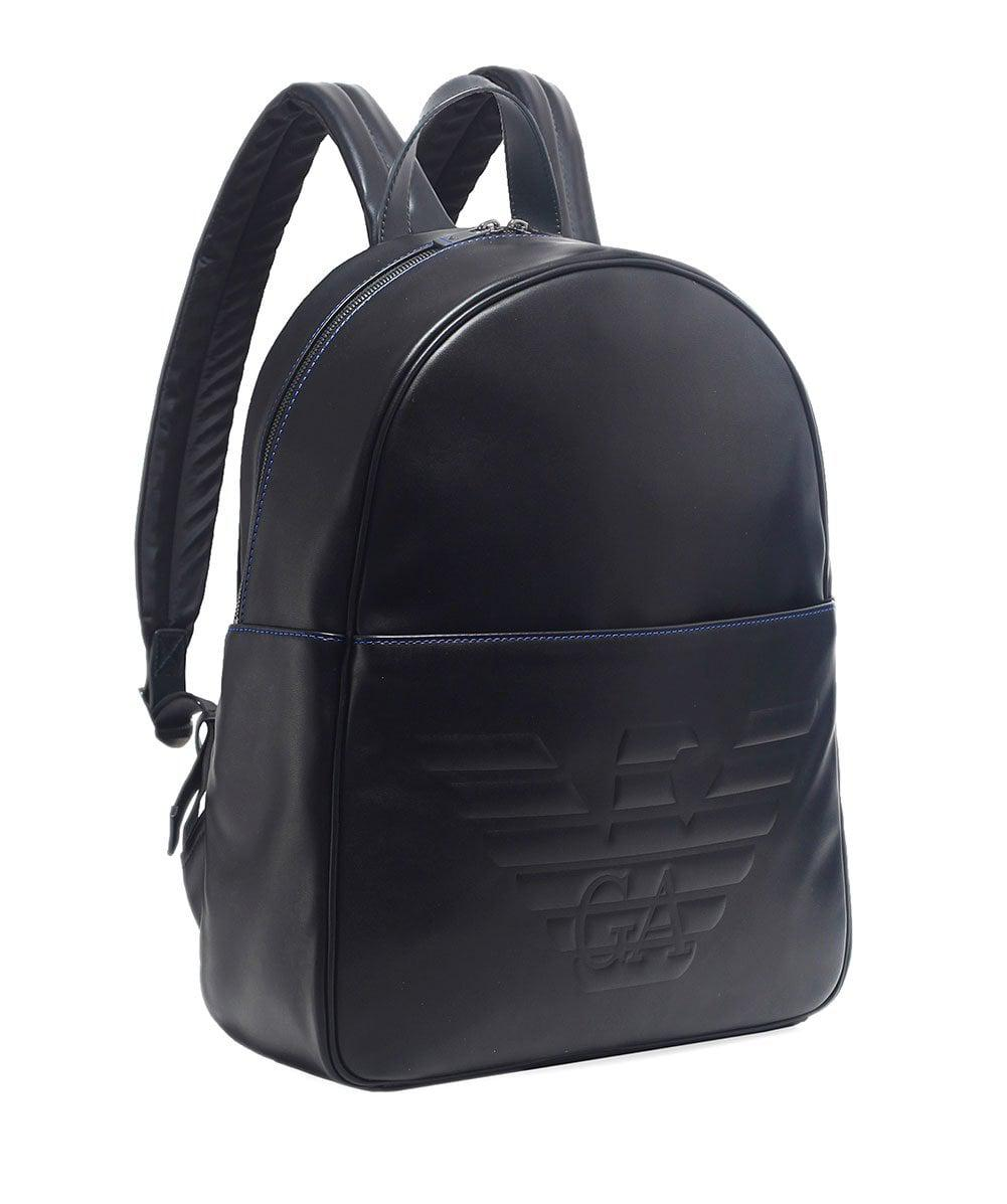 Armani Maxi Logo Backpack in Black for Men - Lyst 329f1ab86bfe9