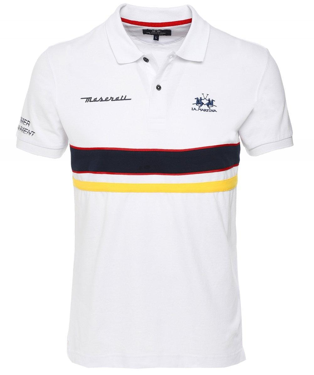 2e656018 Lyst - La Martina Regular Fit Ralphie Polo Shirt in White for Men