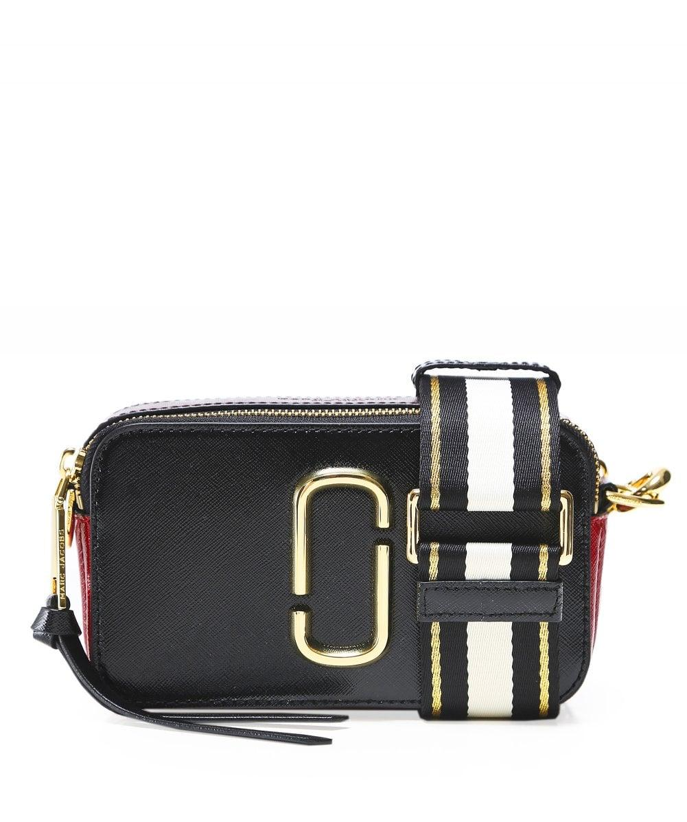 a19d32f30204 Lyst - Marc Jacobs Logo Strap Snapshot Camera Bag in Black - Save 31%