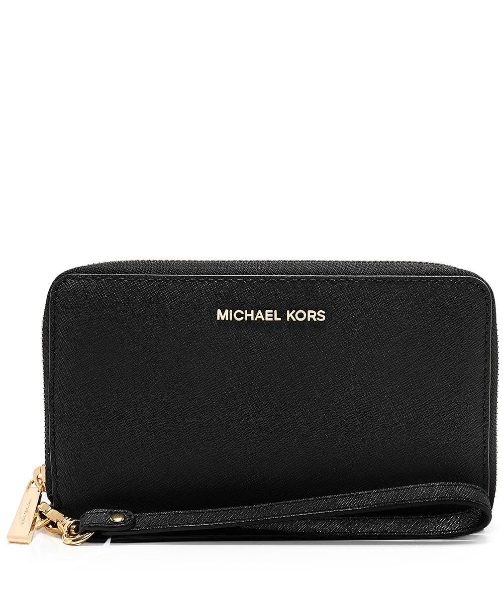 17edc2f5547f1c MICHAEL Michael Kors Jet Set Travel Smartphone Wristlet in Black - Lyst
