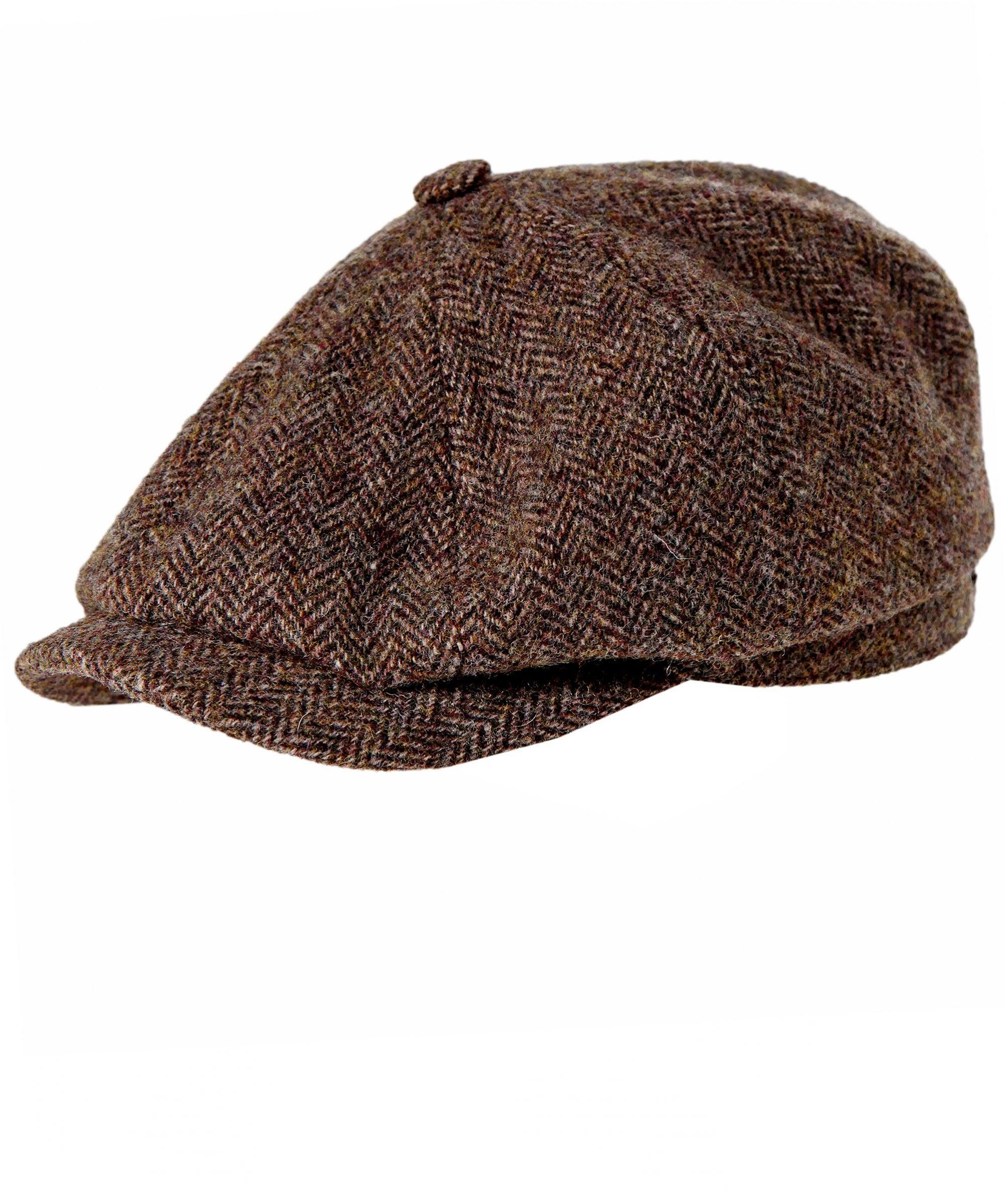 827b388fc15 Stetson Woven Linen Blend Hatteras Newsboy Cap in Brown for Men ...