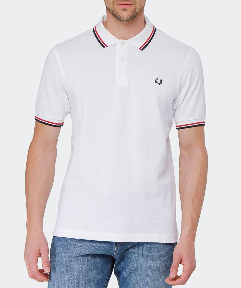 3abccf1c Fred Perry Twin Tipped Short Sleeve Polo Shirt White in White for Men -  Save 55% - Lyst
