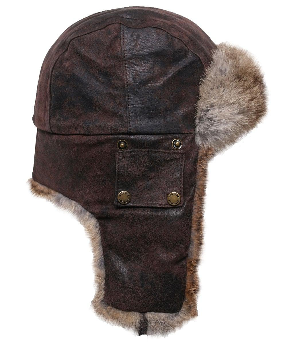 c431e9486a861 Stetson Leather Aviator Hat in Brown for Men - Lyst