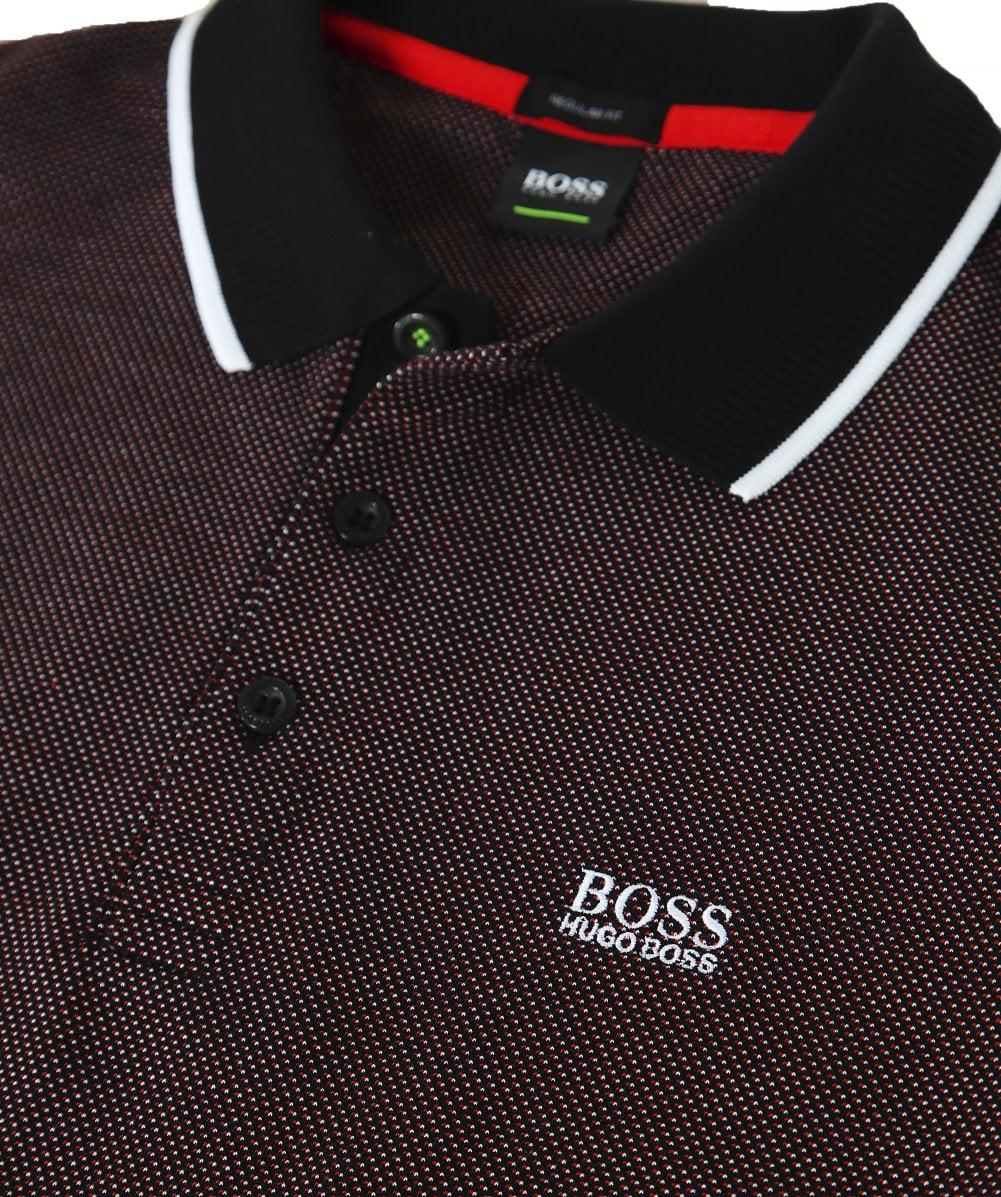 0bf1a808b3c BOSS Regular Fit Textured Pique Plisy 1 Polo Shirt in Black for Men - Save 1%  - Lyst