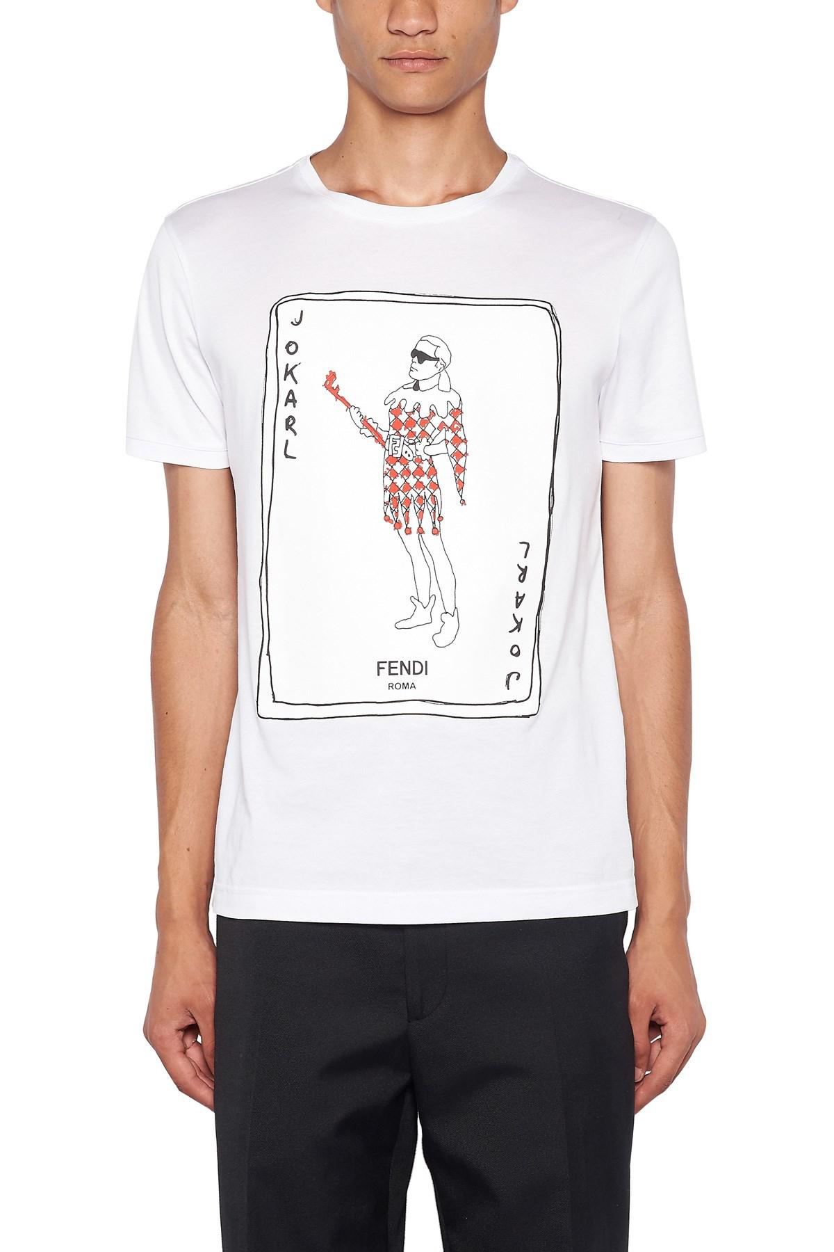 501cfb67 Fendi ' Jokarl' T-shirt in White for Men - Lyst