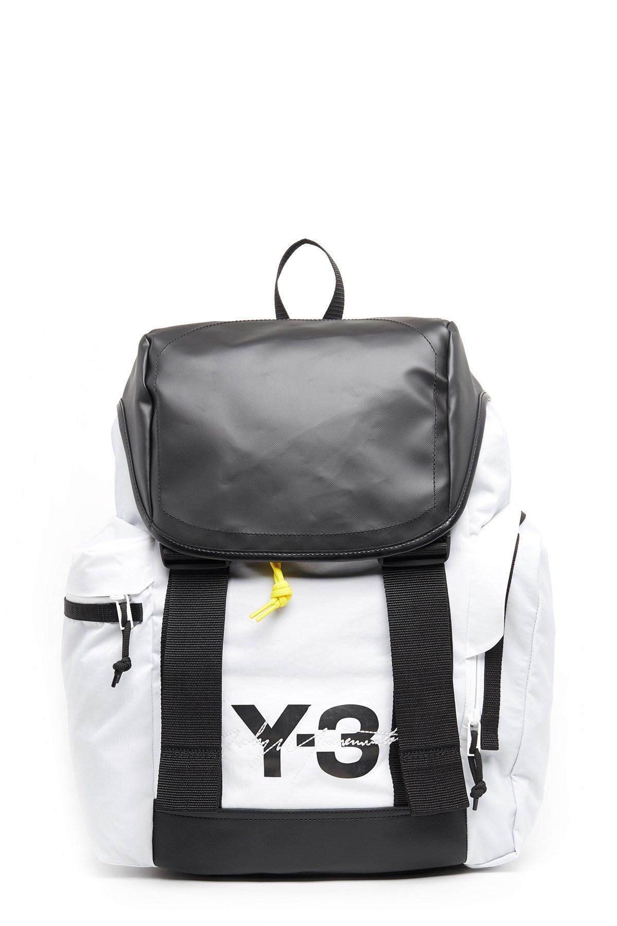 Lyst - Y-3 Mobility Color-block Backpack in Black for Men 0c30713124b52