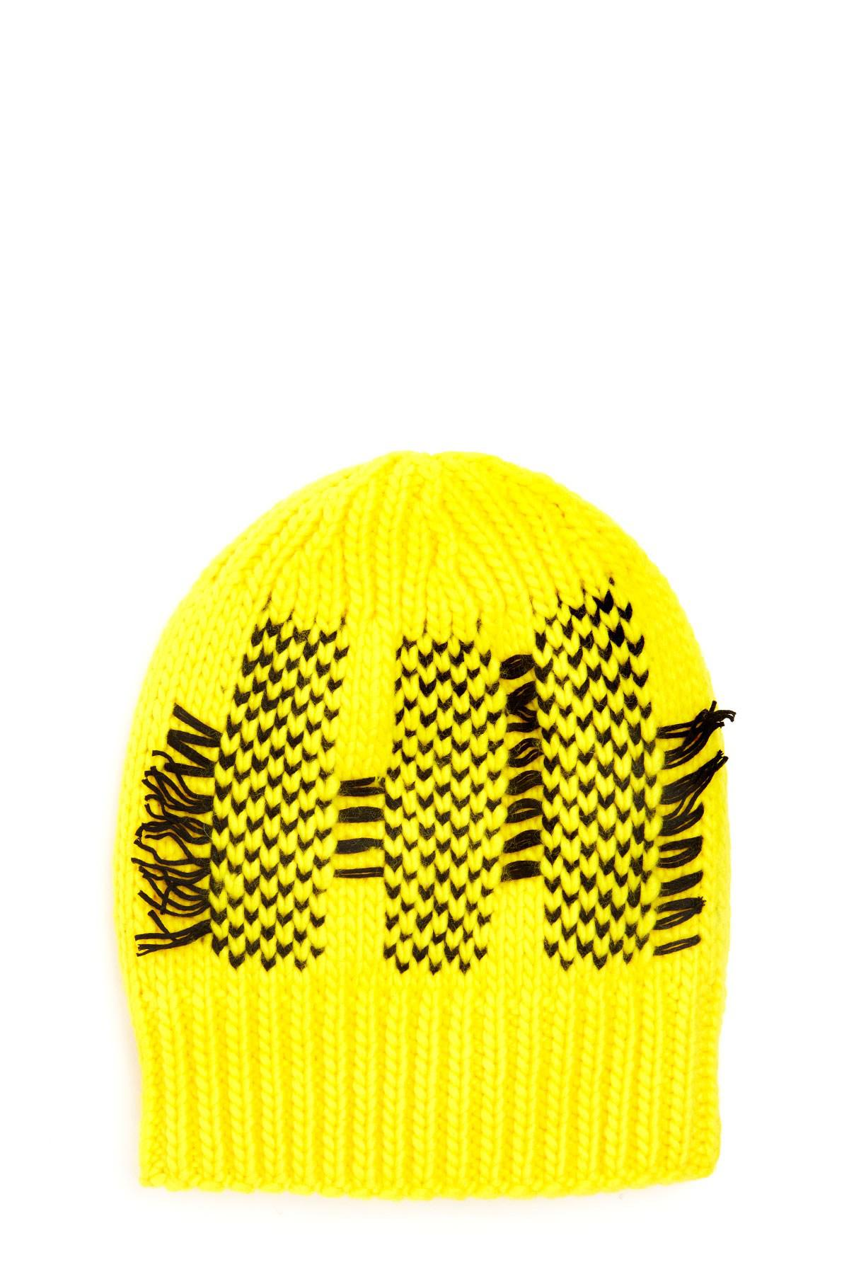 c7ad111ed51 Lyst - Y-3 Logo Beanie in Yellow for Men