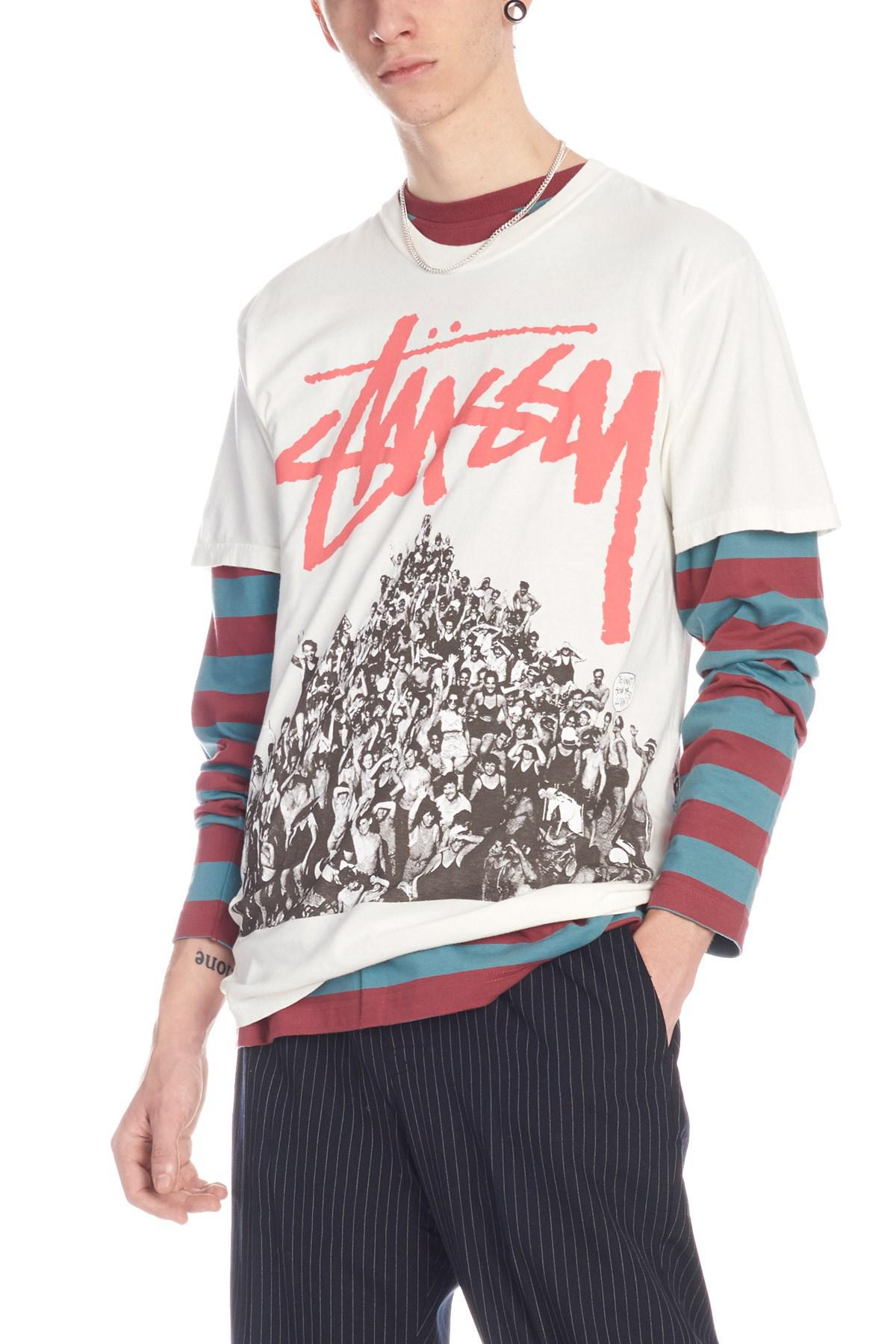71ca617f731 Lyst - Stussy  beach Mob  T-shirt in Pink for Men