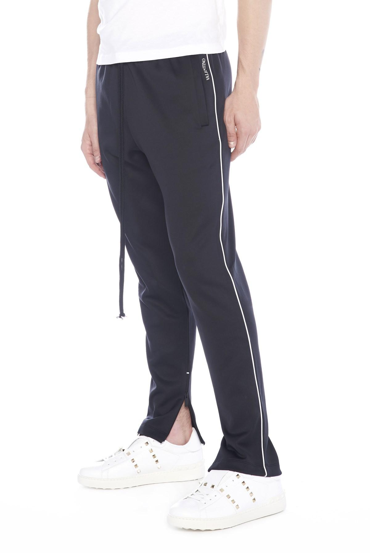 58df01679844 Lyst - Valentino Piping Sweatpants in Black for Men