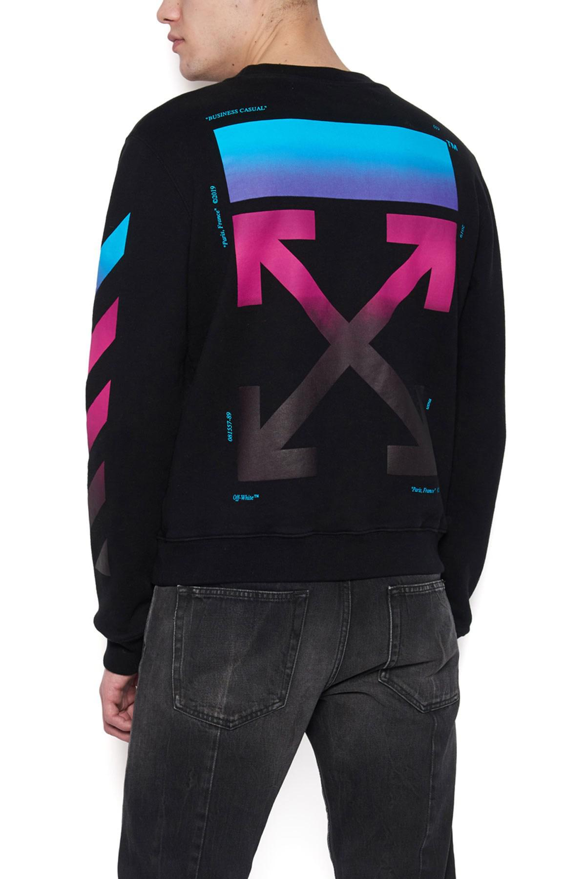 645635dc5fb Off-White c o Virgil Abloh  diag Gradient  Sweatshirt in Black for ...
