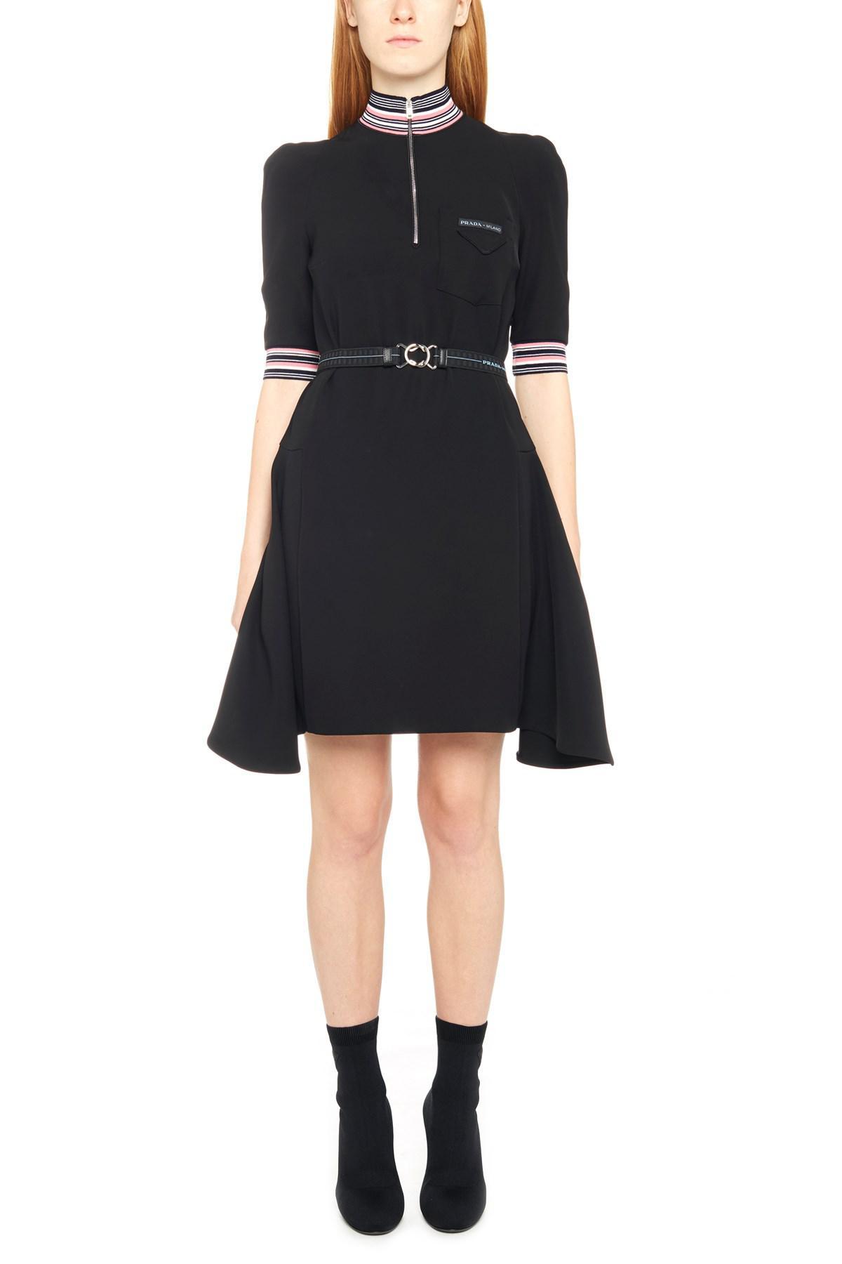 beba0ffd32 Lyst - Prada Tech Fabric Dress in Black