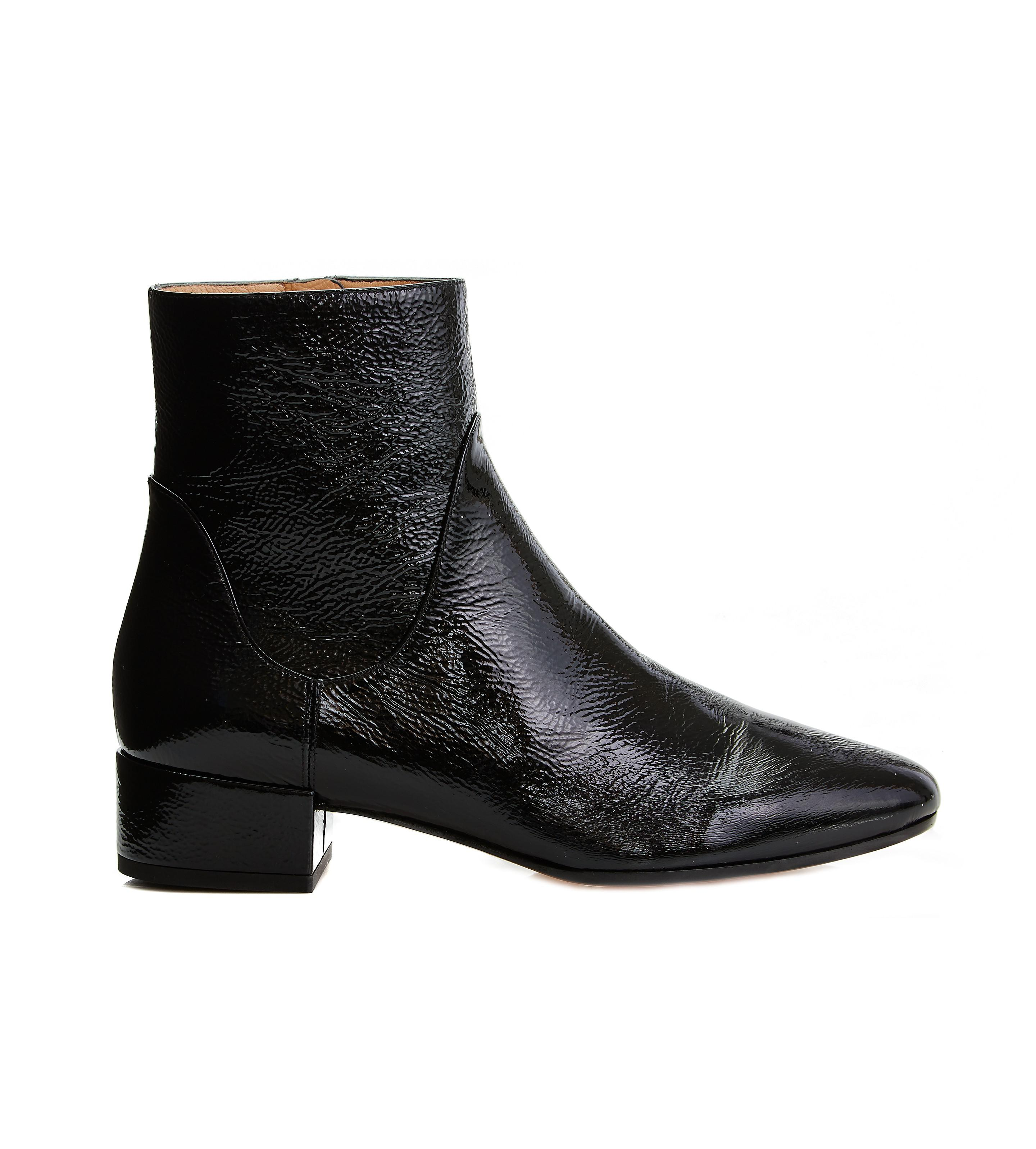 Francesco Russo Patent leather ankle boots pre order online countdown package online cheap online shop buy cheap new styles free shipping 2014 new FGI4SmyJcF