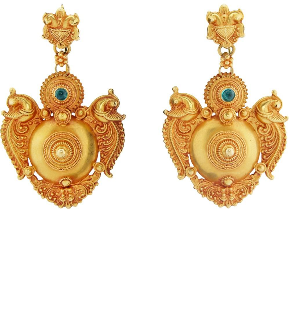 Royal Thai Women S Metallic Pea Earrings