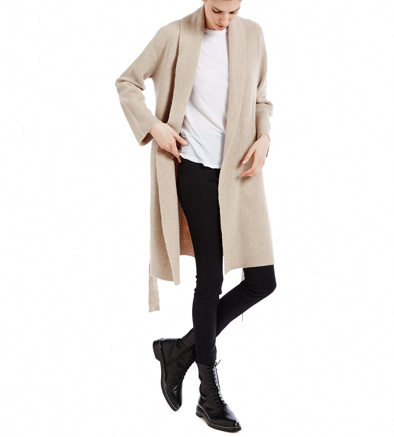 The row Naido Taupe Cashmere Cardigan in Natural | Lyst