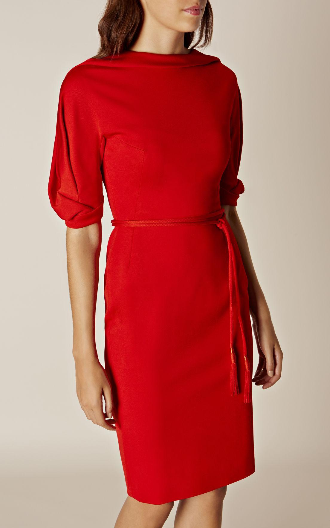 Raw silk dresses women s cut out dresses women s red flare dresses