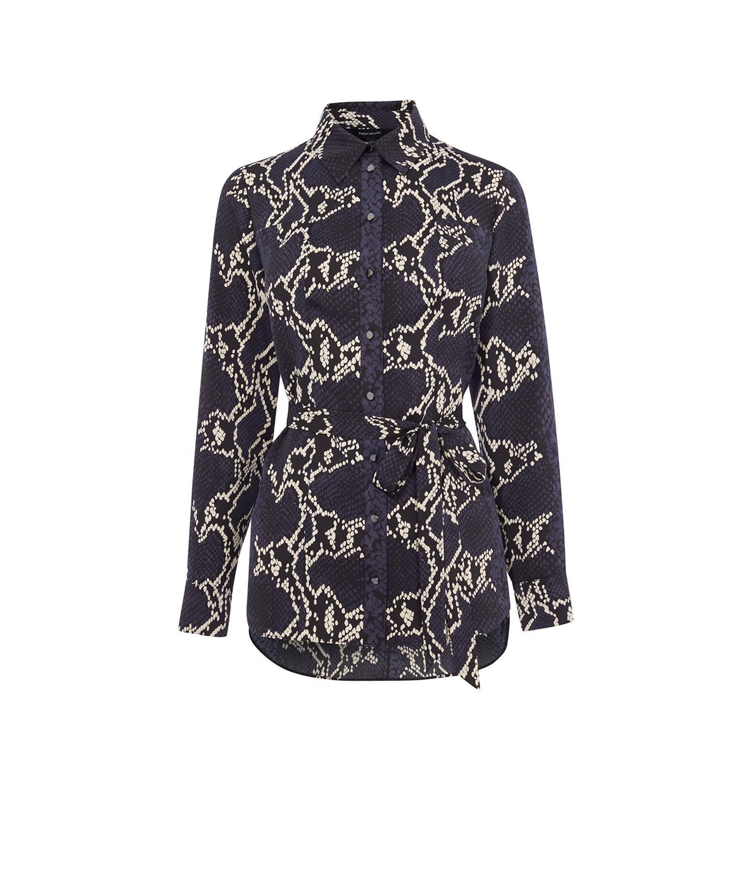 b6fa7cc4e8ecf1 Karen Millen. Women s Snakeskin-print Shirt
