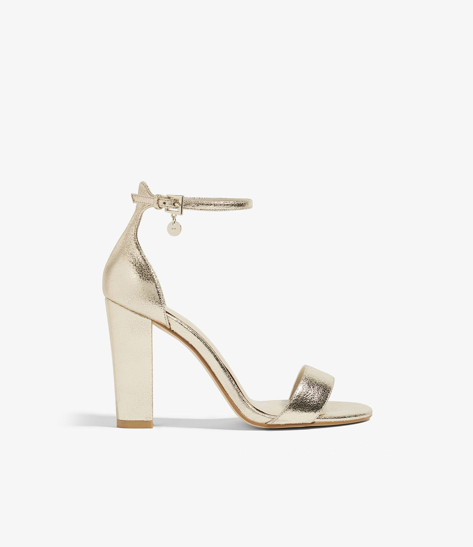 8d974a8a244 Karen Millen Strappy Metallic Heels in Metallic - Lyst
