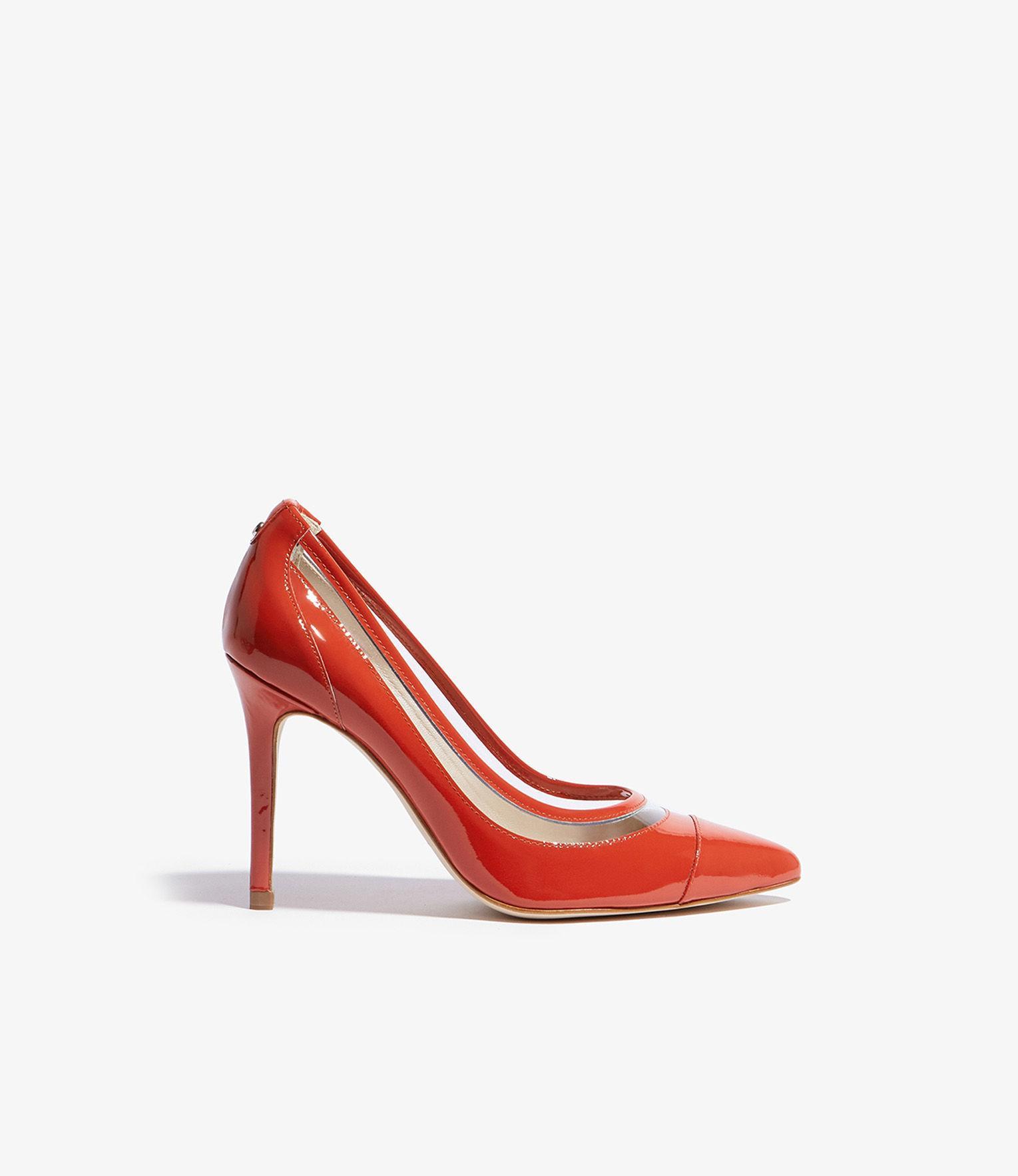 09a8e724274 Lyst - Karen Millen Stiletto Pumps in Orange