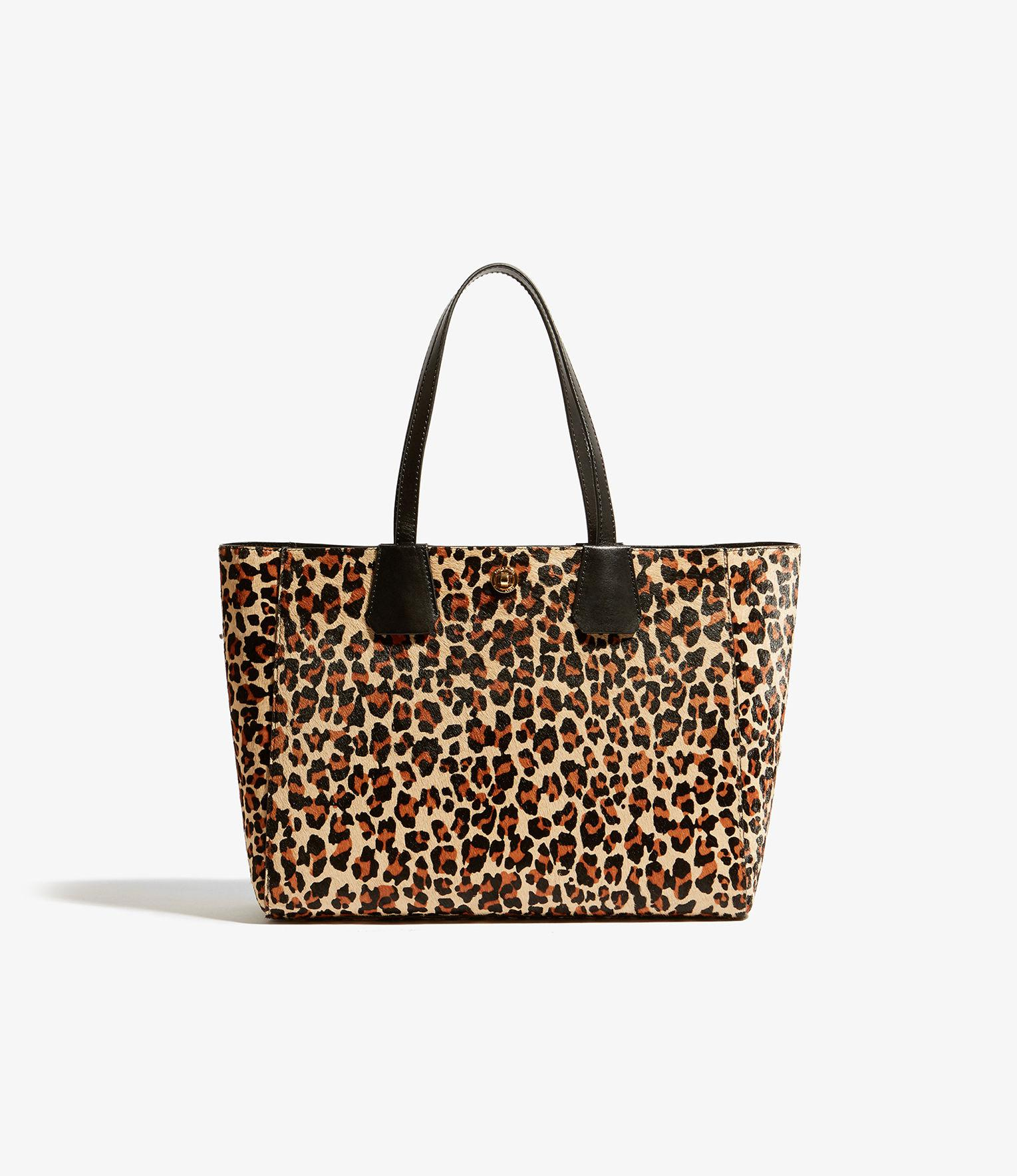 ba23fe1cd1 Karen Millen Leopard East West Tote Bag in Brown - Lyst