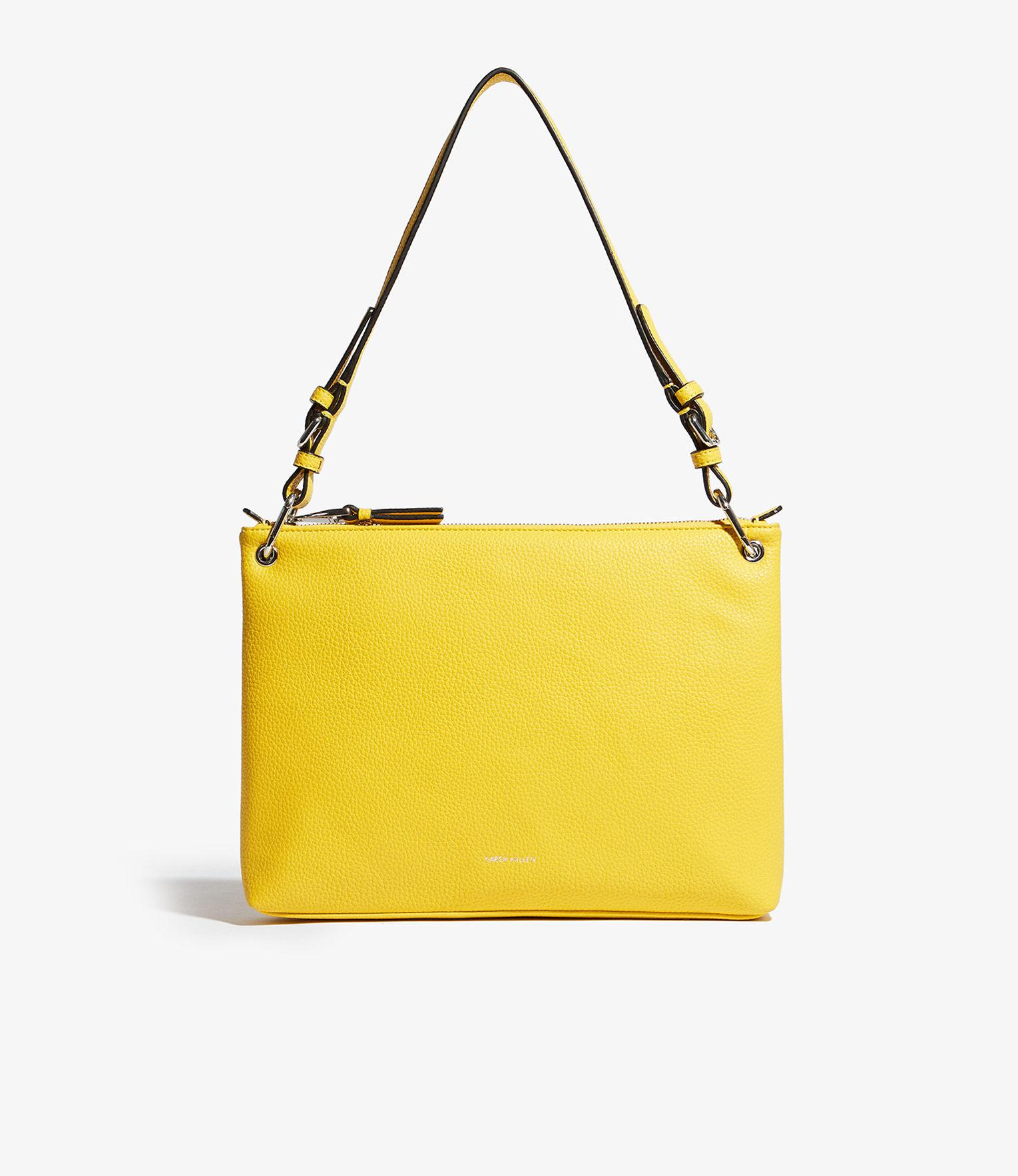 a6ade92307 Lyst - Karen Millen Structured Shoulder Bag in Yellow